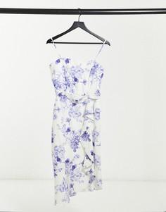 Платье-бандо миди с винтажным цветочным принтом Lipsy-Многоцветный