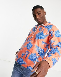 Куртка без застежек с набивным цветочным рисунком икороткой молнией цвета кораллово-розового кварца Levis Larkin-Розовый цвет