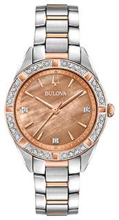 Японские наручные женские часы Bulova 98R264. Коллекция Diamonds