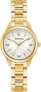 Японские наручные женские часы Bulova 97P150. Коллекция Sutton