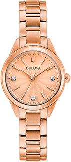 Японские наручные женские часы Bulova 97P151. Коллекция Sutton