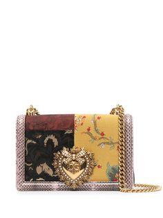 Dolce & Gabbana жаккардовая сумка на плечо Devotion