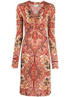 Etro платье с длинными рукавами и принтом пейсли