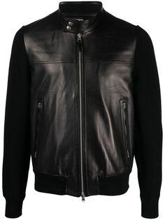 TOM FORD байкерская куртка со вставками