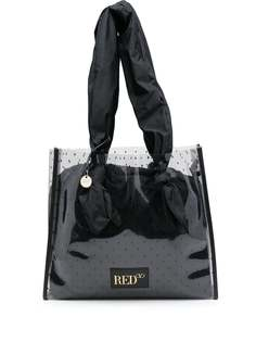 RED(V) сумка-тоут с принтом пуэн-деспри