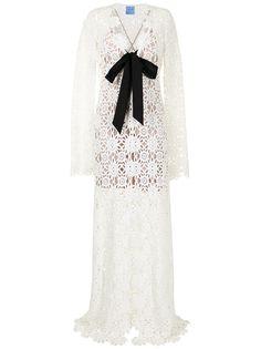 Macgraw платье макси с завязками и вышивкой
