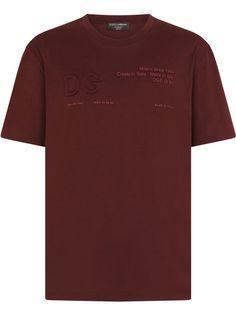 Dolce & Gabbana футболка с круглым вырезом и логотипом DG