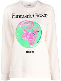 MSGM толстовка Fantastic Green с принтом