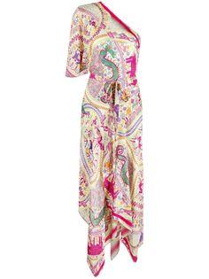 Etro платье асимметричного кроя с принтом пейсли