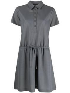 Emporio Armani платье-рубашка с воротником поло
