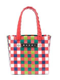 Marni Kids плетеная сумка-тоут с логотипом