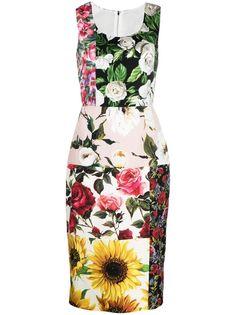 Dolce & Gabbana платье со вставками и цветочным принтом