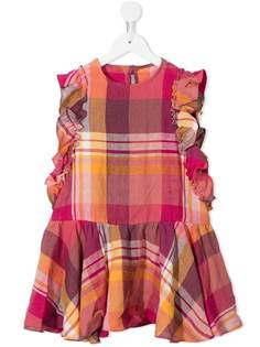 Il Gufo платье в клетку с оборками