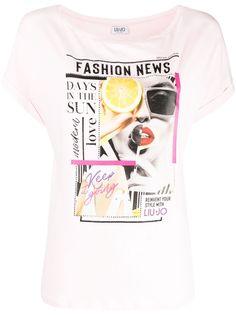 LIU JO футболка с графичным принтом