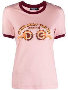 Dolce & Gabbana футболка с принтом и логотипом