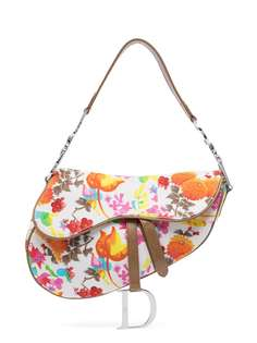 Christian Dior сумка на плечо Saddle pre-owned с цветочным узором