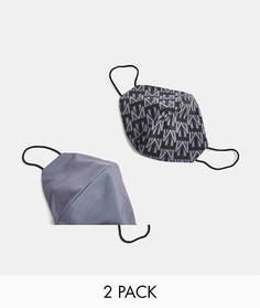 Набор из 2 модных масок для лица серого цвета и темно-серого цвета смонограммой Topman-Серый