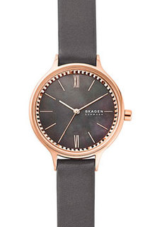 Швейцарские наручные женские часы Skagen SKW2909. Коллекция Leather