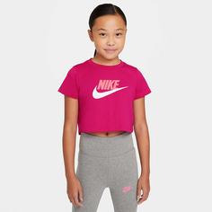 Подростковая футболка Big Kids (Girls) Cropped T-Shirt Nike