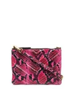 Pinko стеганая сумка на плечо со змеиным принтом