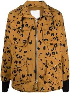 Kenzo куртка на молнии с леопардовым принтом