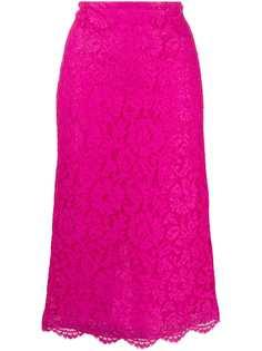 Valentino кружевная юбка-карандаш