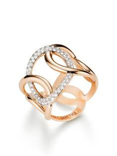MATTIOLI кольцо Hiroko из розового золота с бриллиантами
