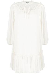 LIU JO платье с вышивкой и оборками