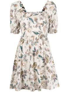 LIU JO платье с пышными рукавами и цветочным принтом