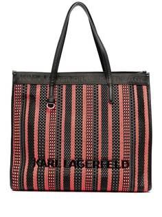 Karl Lagerfeld плетеная сумка-тоут K/Skuare