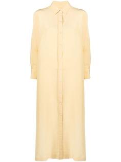Jil Sander платье-рубашка оверсайз с длинными рукавами