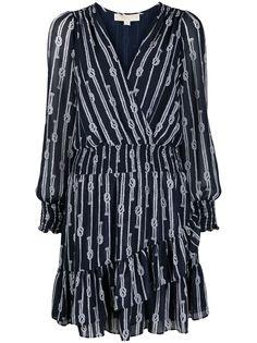 Michael Michael Kors платье-трапеция с принтом