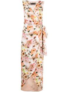 Patrizia Pepe платье миди с запахом и цветочным принтом