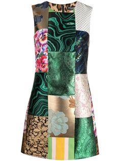 Dolce & Gabbana жаккардовое платье в технике пэчворк