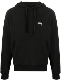 Stussy худи с вышитым логотипом