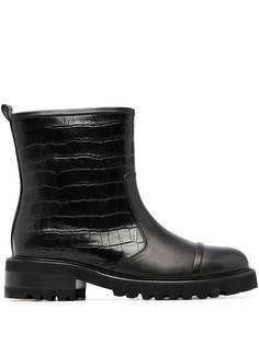 Malone Souliers байкерские ботинки Bibi с тиснением под крокодила