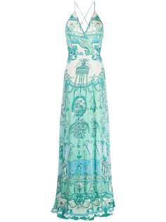 Etro платье макси с принтом