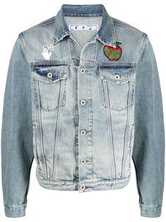 Off-White джинсовая куртка Apple