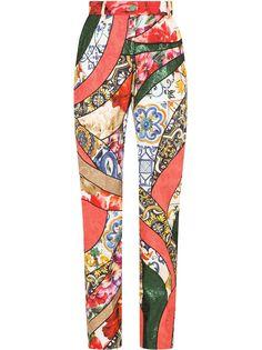 Dolce & Gabbana брюки с принтом Majolica