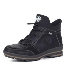 Ботинки Черные ботинки из экокожи на шерсти Rieker