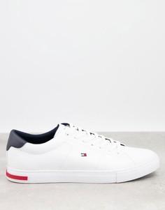 Белые кожаные кроссовки с маленьким логотипом Tommy Hilfiger-Белый