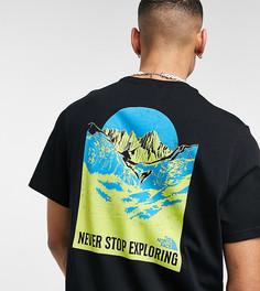 Черная футболка с принтом на спине The North Face Back Natural Wonders – эксклюзивно для ASOS-Черный
