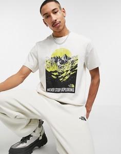 Белая футболка с графическим принтом The North Face-Белый