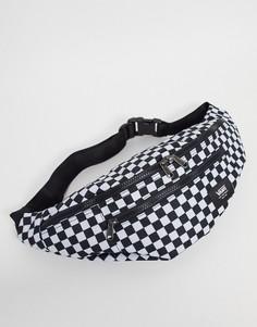 Черно-белая сумка-кошелек на пояс в шахматную клетку Vans Ward Cross-Черный цвет