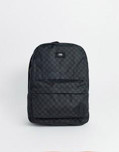 Черный рюкзак в шахматную клетку Vans Old Skool III-Черный цвет