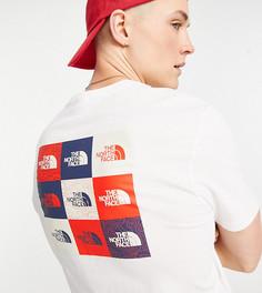 Белая футболка с разноцветными логотипами The North Face-Белый