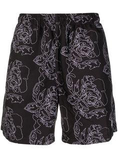 Stussy шорты с вышитым логотипом
