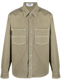 MSGM куртка-рубашка с логотипом