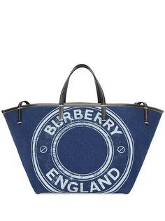 Burberry сумка-тоут с логотипом