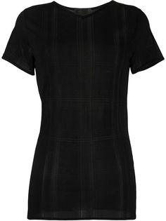 Fendi Pre-Owned футболка с прозрачными полосками
